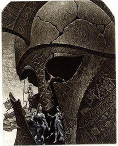 Kronos, etching by Julian Jordanov