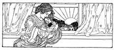 Vintage Mother's Day Clip Art - Mother with Sleeping Child - The Graphics Fairy