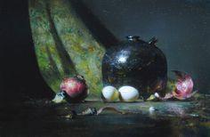 "David Leffel | ""Red Onion, Eggs, Paint Tubes"" | Gallery 1261 :: Denver, Colorado"