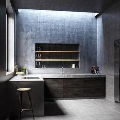 monolithic kitchen