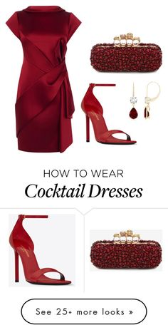 """""""#PolyPresents: Party Dresses"""" by adzea on Polyvore featuring Karen Millen, Yves Saint Laurent, Alexander McQueen, contestentry and polyPresents"""