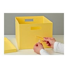 TJENA Box with lid - yellow - IKEA $3.99
