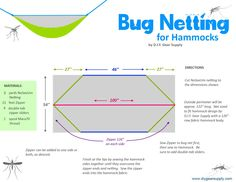 There is not much worse than being bled dry overnight by the mosquitoes and black flies. Here we have some great Bug netting solutions for hammock camping that will help keep those nasty biters out…