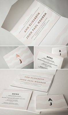 Beautiful Letterpress and foil stamped Viceroy customization by Jess Tierney for Bella Figura