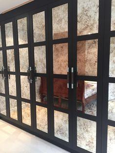 Walk In Wardobe With Milano Style Antique Mirror Glass Panels   Credited To  Green County. Wardrobe DoorsCloset ...
