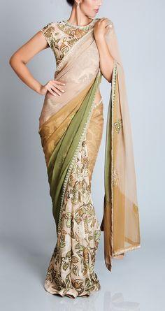 Leaf Print Sari