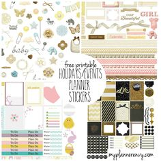 Free Printable Planner Stickers by My Planner Envy