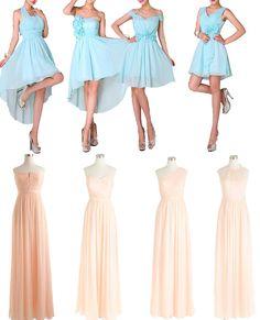 pastel mismatched bridesmaid dresses uk