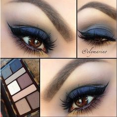 Makeup for Brown Eyes ❤ liked on Polyvore featuring beauty products, makeup, eye makeup, eyes, beauty and palette makeup