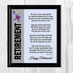 Retirement Poem Retirement Gift Co-Worker by IslandWhispers Retirement Card Messages, Retirement Speech, Retirement Party Gifts, Retirement Celebration, Retirement Quotes, Teacher Retirement, Happy Retirement, Retirement Sentiments, Retirement Countdown