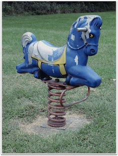 Blue Horse by Jenny with a camera, via Flickr