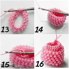 tubular bead crochet – sections of plain crochet - Jewelry Ideas Bead Crochet Patterns, Bead Crochet Rope, Beading Patterns, Knit Crochet, Beaded Crochet, Beading Techniques, Beading Tutorials, Bracelet Crochet, Crochet Earrings