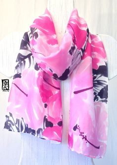 Hey, I found this really awesome Etsy listing at https://www.etsy.com/listing/178019698/hand-painted-silk-scarf-pink-silk-scarf