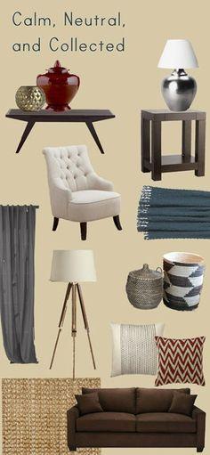 House Stuff Works: Mood Board: That Brown Sofa