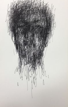 pencil on paper 2013 by KwangHo Shin, via Behance Biro Drawing, Drawing Heads, Pencil Sketch Drawing, Art Drawings, Biro Portrait, Crane, Drip Art, Scribble Art, Abstract Line Art