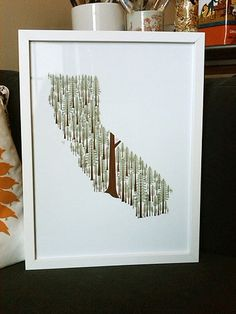 California print! Cali covered in Redwoods, my favorite tree. I dont know how many drives I have taken through Northern California, but these majestic