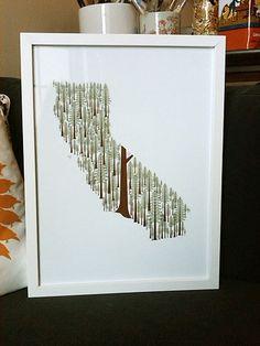 California Redwoods print. $40.00, via Etsy.
