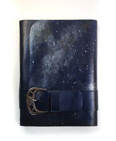 Night Sky Handmade Leather Journal