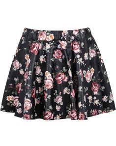 Shop Black Floral Pleated PU Skirt online. Sheinside offers Black Floral Pleated PU Skirt & more to fit your fashionable needs. Free Shipping Worldwide!
