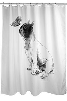 Thumbprintz Shower Curtain Boston Terrier Max Learn More By Visiting The Image Link