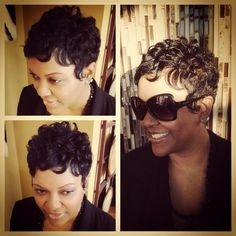 These short black hairstyles truly are fab! Love Hair, Gorgeous Hair, Beautiful, Short Hair Cuts, Short Hair Styles, Pixie Cuts, Pixie Styles, Short Pixie, Locks