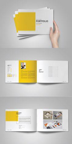 Graphic Design Portfolio Template This is 24 page minimal brochure Portfolio template is for designers working on product/graphic design portfolios interior Portfolio Design Layouts, Book Portfolio, Mise En Page Portfolio, Graphic Portfolio, Printed Portfolio, Product Design Portfolio, Architect Portfolio Design, Page Layout Design, Design Nike