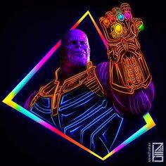 Neon Thanos (@aniketjatav)