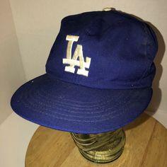 1f5acc2c Vintage 70s LOS ANGELES DODGERS USA Union Made Blue Hat Cap ANNCO Elastic  MLB | eBay