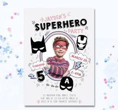 Superhero Invite Boys superhero party boys invite by MotifVisuals
