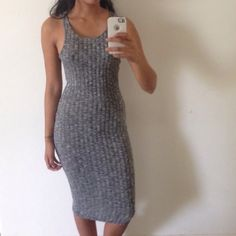 Heathered Midi Dress Reposhing- worn once, in great condition! Size S. Soft sweater material. Nasty Gal Dresses Midi