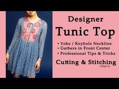 (DIY) How to stitch Inserted Triangular Panel Tunic Top - YouTube
