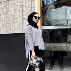 Trendy Ideas For Fashion Hijab Casual Posts – Hijab Fashion 2020 Modern Hijab Fashion, Street Hijab Fashion, Hijab Fashion Inspiration, Muslim Fashion, Trendy Fashion, Fashion Outfits, Fashion Fashion, Fashion Ideas, Hijab Style