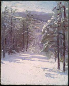 Winter Scene by Abbott Thayer, 1901