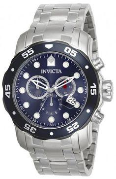 Invicta Mens Pro Diver Steel Band Blue Dial