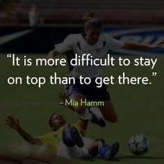 At age 19, Mia Hamm was the youngest player on the US Women's national team when they won the first ever FIFA Women's World Cup. In total, Hamm won two World Cups, an Olympic gold medal, and at one point, Hamm held the record for more goals in international matches than any other player, male or female, in the history of soccer.