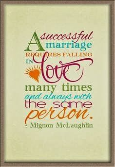 A successful marriage requires falling in Love many times and always with the same person   Inspirational Quotes