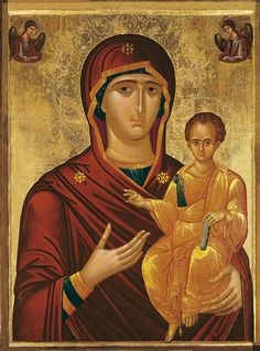 MADONNA-DI-ESTE Byzantine Icons, Byzantine Art, Religious Icons, Religious Art, Our Lady Of Rosary, All Archangels, Images Of Mary, Russian Icons, Religious Paintings