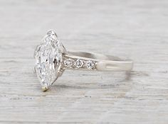 1.41 Carat Vintage Tiffany & Co. Marquise Engagement Ring. AKA Beyond Perfection