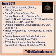 Have you checked TribalCalendar lately? Check out these events in June 2017! #tribalcalendar #bellydance
