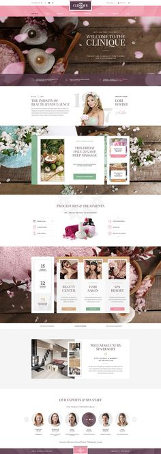Clinique is wonderful premium PSD #template for #Wellness Luxury #Spa Resorts website. Download Now!