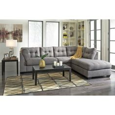 Coaster knottley slipcovered sectional sofa with chaise for Nottley slipcovered sectional sofa with chaise and feather blend cushions