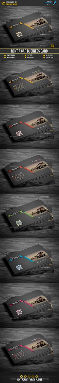 Rent A Car Business Card Template PSD