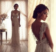 $124.59/Piece:buy wholesale 2015 Vintage Beach Wedding Dresses Sheer Anna Campbell Lace Bridal Gowns Capped Sleeve Backless Bow Knot Beading Charming Long Wedding Gowns from DHgate.com,get worldwide delivery and buyer protection service.