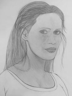 #portrait #of #somebody #woman #art #painting #draw #pencil #blackandwhite #grey #hobby #kunst #model