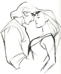 By GLEN KEANE  Pocahontas ★ || Art of Walt Disney Animation Studios © - Website | (www.disneyanimation.com) • Please support the artists and studios featured here by buying their works from their official online store (www.disneystore.com) • Find more artists at www.facebook.com/CharacterDesignReferences  and www.pinterest.com/characterdesigh || ★