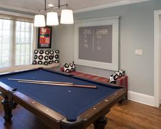 Delicate Interior Color for Modern Living Space : Sophisticated Living Room Decor Ideas With Modern Billiard Table