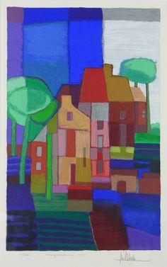 Ton Schulten | Voorjaarsbomen | Business Art Service (BAS) | Grootste kunstuitleen voor bedrijven en instellingen