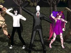 Creepypastas dancing to Gangnam Style. I don't really like this song, but it's so funny seeing Slendy and Jeff dance to it. xD I can't stop laughing! Creepypasta Videos, Creepypasta Characters, Laughing Jack, Can't Stop Laughing, Like This Song, Gifs, Gangnam Style, Jeff The Killer, Creepy Pasta