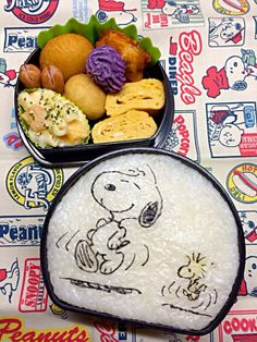 posted from @namimocchi 本日の部活弁当。 #obentoart #snoopy