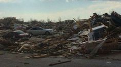 At least 4 people are reported dead after tornadoes ripped through the Midwest on Sunday - photo via @NBCDFWWeather